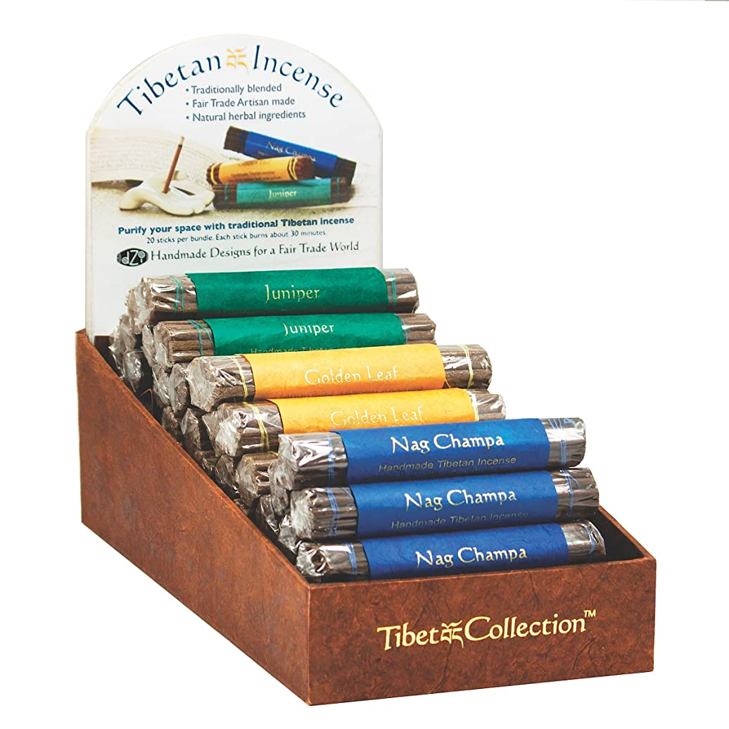 美的石鹸を通してFair Trade Organic Incense Bundle of 19 Sticks - Golden Leaf by dzi