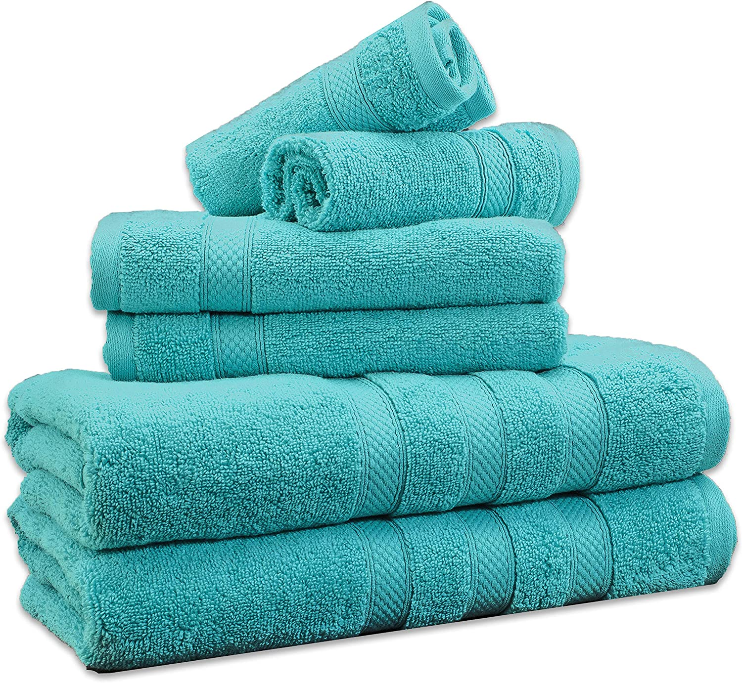Weavely 6 Max 68% Super sale OFF Piece Cotton 600 GSM Bath Spa Towel Q and Set Hotel