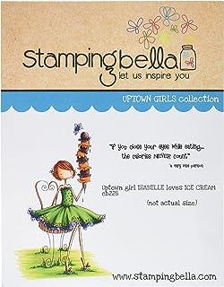 Estampillage Bella étirable en Caoutchouc Tampon 16,5cm x 11,4cm, Uptown Girl Isabelle Loves Ice Cream