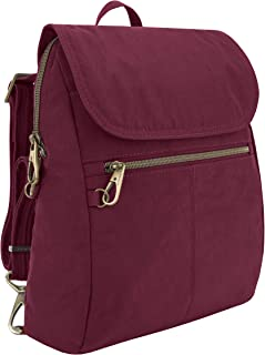 Travelon: Anti-Theft Signature Nylon Slim Backpack - Ruby
