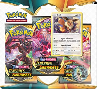 Pokemon Epée et Bouclier-Ténèbres Embrasées (EB03) : Pack 3 boosters, 3PACK01EB03