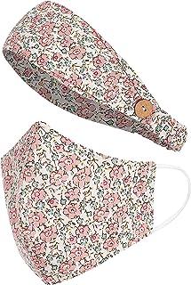 Sole Designs MV#12 - Máscara de cara de 3 capas, reutilizable, lavable y lavable