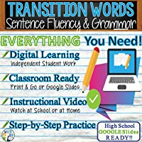 Transitions & Transition Word List in Parts of Speech, Grammar, Sentence Fluency, Writing - Distance Learning, In Class,...