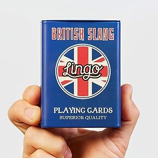 Lingo Slang Playing Cards in Tin Box   Travel Case Playing Cards   Language Learning Game Set   Fun Visual Flashcard Deck ...