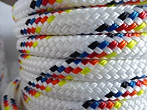 "5/16"" Premium Double Braid-Yacht Braid Polyester Rope. Sailboat Rigging Line. Multiple Lengths & Colors. Made in The U.S.A."