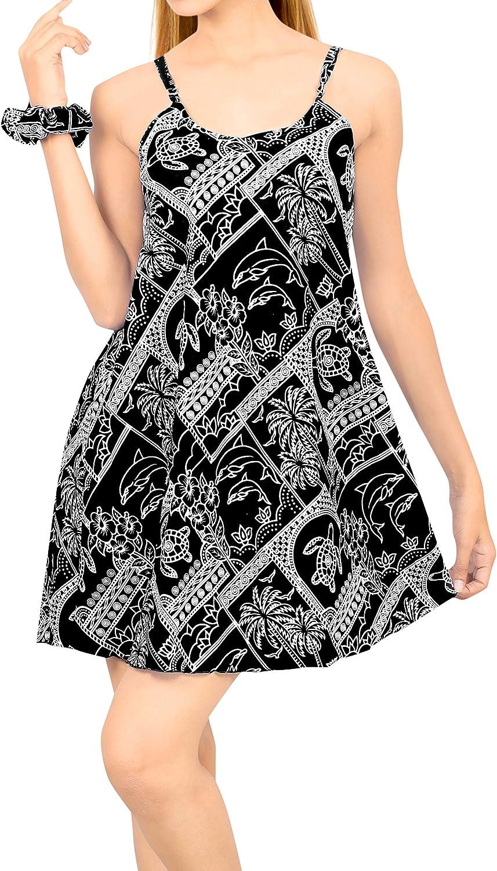 LA LEELA Women's Summer Beach Casual Dress Plus Sleepwear Swimwear Cover Up