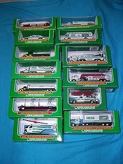 Complete Set of Hess Mini Trucks 1998-2012