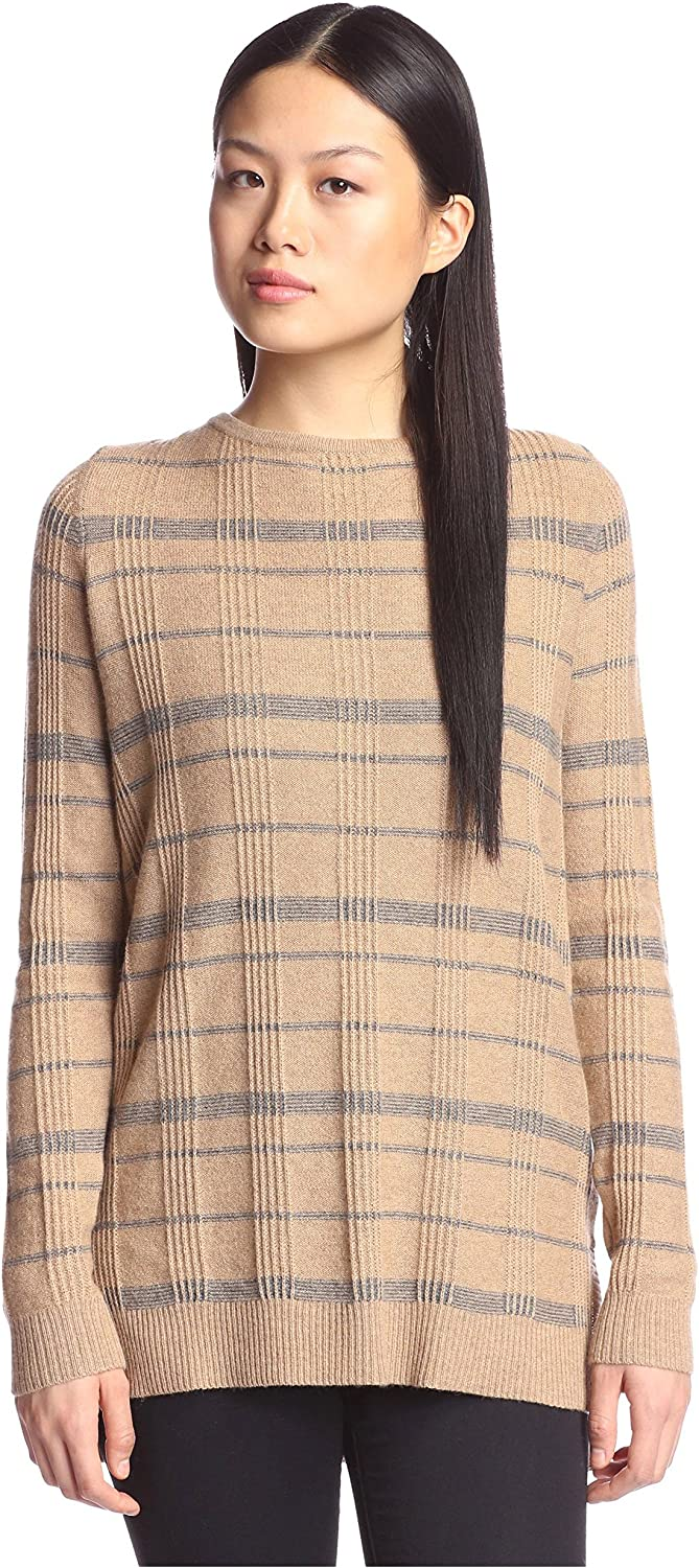Cashmere Addiction Women's Plaid Tunic Sweater