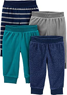 Simple Joys by Carter's 4-Pack Fleece Pants Bimbo 0-24, Pacco da 4