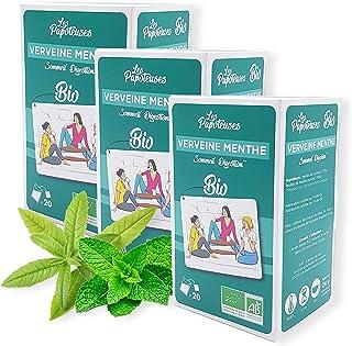 LES PAPOTEUSES | Infusion bio sommeil et digestion grâce à la verveine et la menthe poivrée | 60 infusettes | Coffret infu...