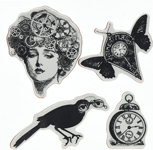 Hampton Art Selbst Stempel Sets Time Flies Stempel