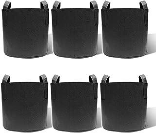gardzen 6-Pack 15 Gallon Grow Bags, Aeration Fabric Pots with Handles