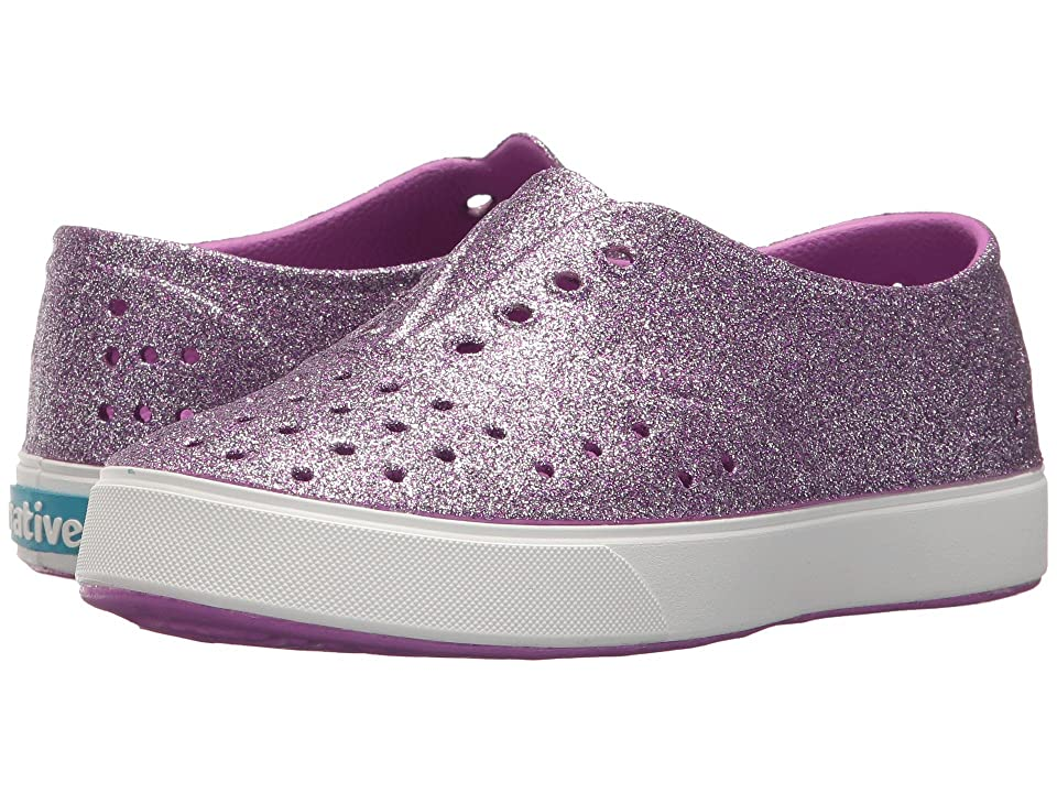 Native Kids Shoes Miller Bling (Little Kid) (Peace Purple Bling/Shell White) Girl