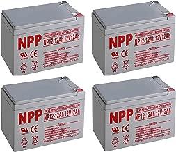 NPPower NP12-12Ah 12V12Ah AGM SLA Sealed Lead Acid Battery F2 Style Terminals / (4pcs)