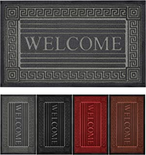 """Welcome Door Mat with Non-Slip Heavy Duty Rubber Backing, Welcome Mats for Front Door 30"""" x 17"""", Absorb Mud Easy Clean Fro..."""