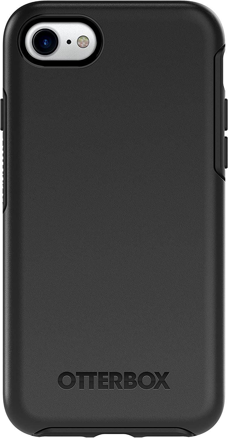 OtterBox Symmetry Series Case for iPhone SE (2nd Gen - 2020) and iPhone 8/7 (Not Plus) - Retail Packaging - Black