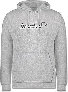 Shirtracer Skyline - Bremen Skyline - Herren Hoodie und Kapuzenpullover für Männer
