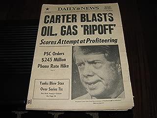New York Daily News Newspaper (New York Yankees , Reggie , Billy , Munson , Catfish, Oxctober 14 , 1977)