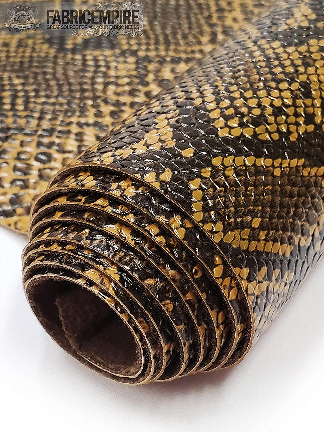 Designer Embossed Snake Animal Textured White Faux Leather Upholstery Fabric Sold By The 1 Metre