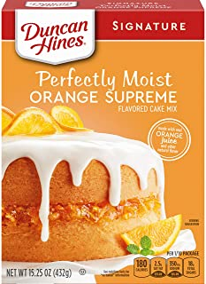 Duncan Hines Signature Perfectly Moist Orange Supreme Cake Mix, 15.25 OZ - PACK OF 4