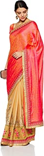 Aalia Faux Georgette Embroidered Saree with Blouse piece