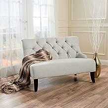 Christopher Knight Home Nicoletta Sky Grey Fabric Settee, Light