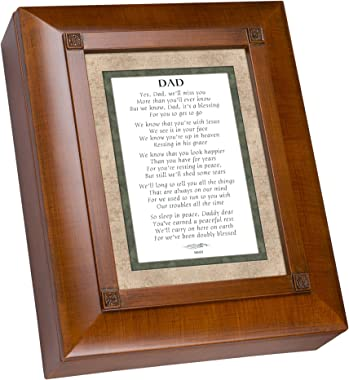 Cottage Garden Dad We Will Miss You Woodgrain Remembrance Keepsake Box