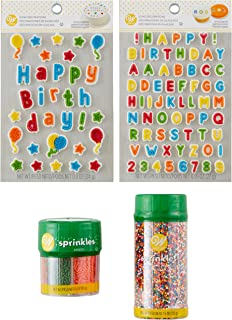 Wilton Birthday Treat Topper Set, 4-Piece