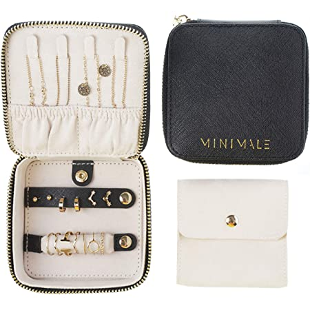 NEW MULTI-PURPOSE LEATHER JEWELRY BOX GREAT FOR TRAVEL!