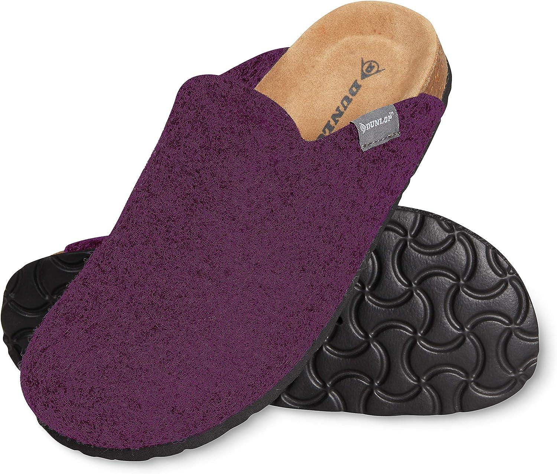 Dunlop Zapatillas Mujer, Zapatillas Casa Mujer de Felpa, Pantuflas Mujer Suela de Goma Antideslizante, Regalos para Mujer y Adolescentes Talla 36-41