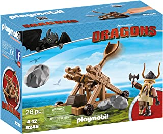 Playmobil How To Train Your Dragon Gobber with Catapult Play Set - 4 Years & Above