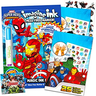 Marvel Super Hero Adventures Imagine Ink Coloring Book Activity Set ~ No Mess Magic Ink Activity Book with Avengers Sticke...