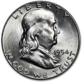 1954 S Franklin Half Dollar BU Half Dollar Brilliant Uncirculated