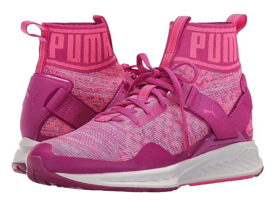 Puma Kids Ignite Evoknit Jr (Big Kid) (Ultra Magenta/Knockout Pink) Girls Shoes