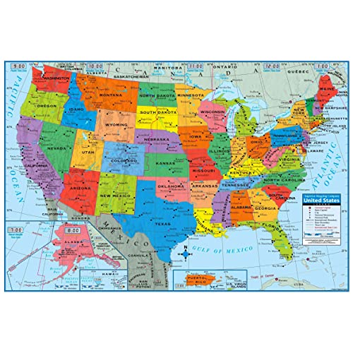 Map Of America Showing States.America Map Amazon Com