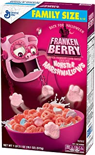 General Mills Cereals Franken Berry Artificial Strawberry Flavor Frosted Cereal With Monster Marshmallows, 18.10 Oz