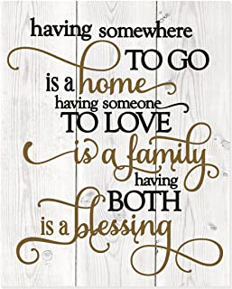MRC Wood Products Having Somewhere to Go is A Home Rustic Wall Sign 12×15 New