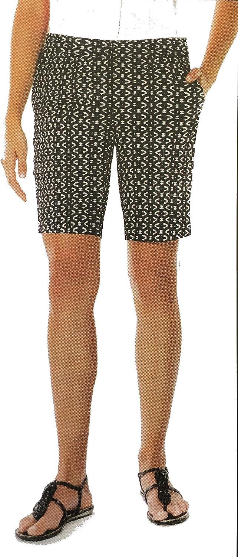 Mario Serrani Comfort Stretch Fabric Shorts with Tummy Control Size 10, Inseam 9
