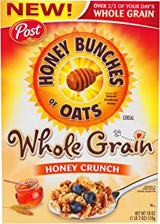 Post Honey Bunch Oats Wholegrain Honey Crunch, 510g
