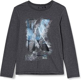 IKKS Junior tee Shirt Ml Gris Avion Camiseta para Beb/és