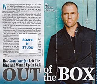 Sean Carrigan (Stitch, Young and the Restless) 4 Page Feature Interview Article (Clippings) from 2014 Soap Opera Digest Magazine