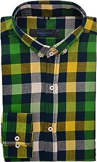 VOGUEMAN Men's Slim Fit Casual Full Sleeve Check Shirt