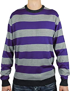 Blue Ocean Crew Neck Stripe Sweater