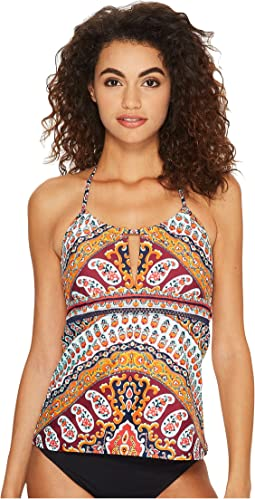 Nanette Lepore Super Fly Paisley Honey Tankini Top