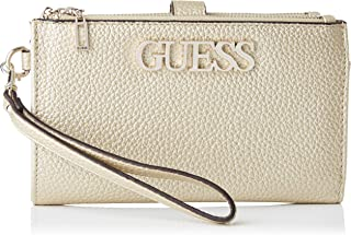 Guess Uptown Chic SLG Dbl Zip Orgnzr, Small Leather Goods para Mujer, Negro, Talla única