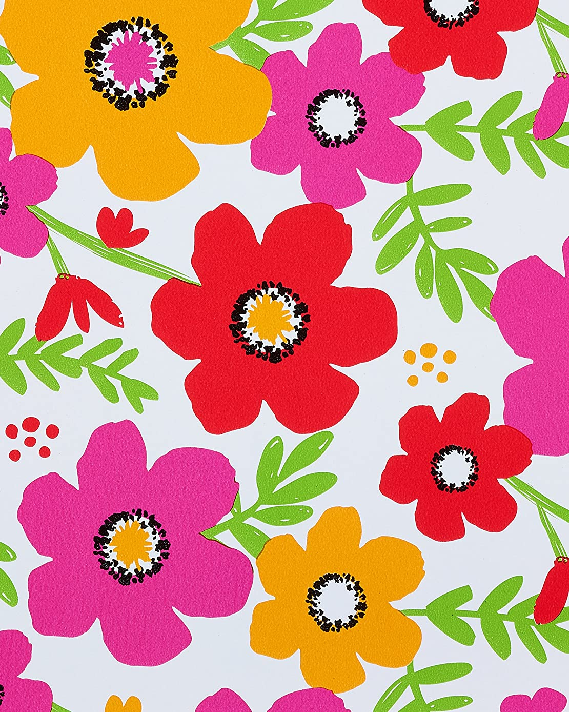American Greetings Wrapping Paper, Fun Floral Pattern, 2.5' x 3'
