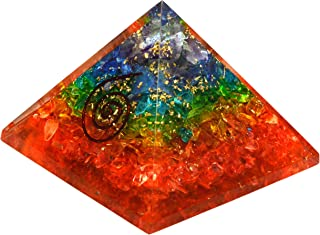 Crystals and Healing Stones Emf Protection,Negative Ion Generator Meditation Tools Energy Protection Chakra Healing Crystals Pyramid for Positive Energy Reiki Supplies Chakra Pyramid 50-60 MM