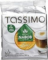 TASSIMO NABOB Latte Coffee , 8 Espresso T-Discs & 8 Milk T-Discs, 263G