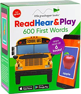 Read Hear & Play: 600 First Words (6 Book Set & Downloadable App!)