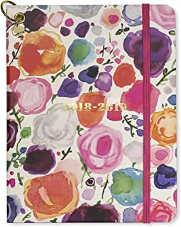Kate Spade Medium Academic Daily Planner 2018-2019 with Daily Weekly Monthly Views and Happy Stickers (Floral)